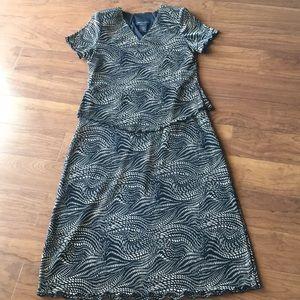 Women's dress one piece blouse skirt